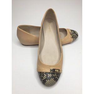 Coach Dianah Ballet Flats Snake Skin Toe - 8.5